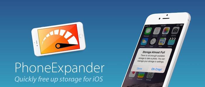Liberar espacio en iPhone y el iPad, gracias a PhoneExpander