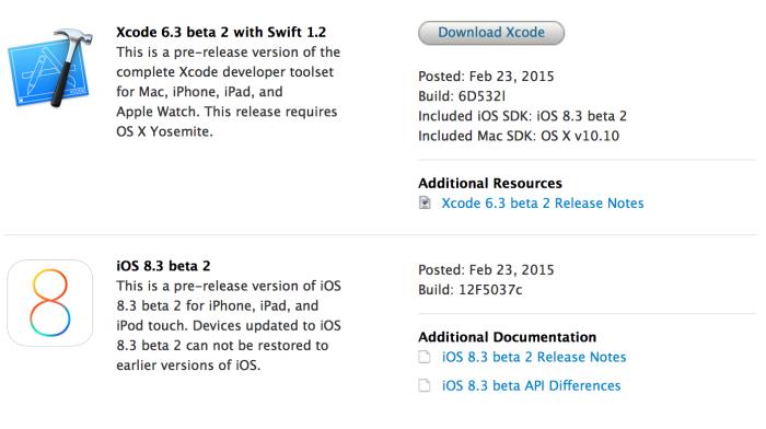 Apple lanza iOS 8.3 beta 2 para desarrolladores