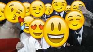Oscar's selfie con Emojis