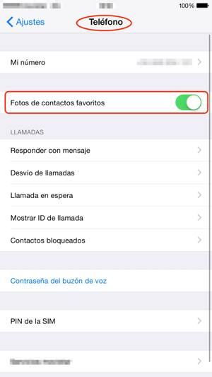 Fotos de contactos favoritos en iPhone