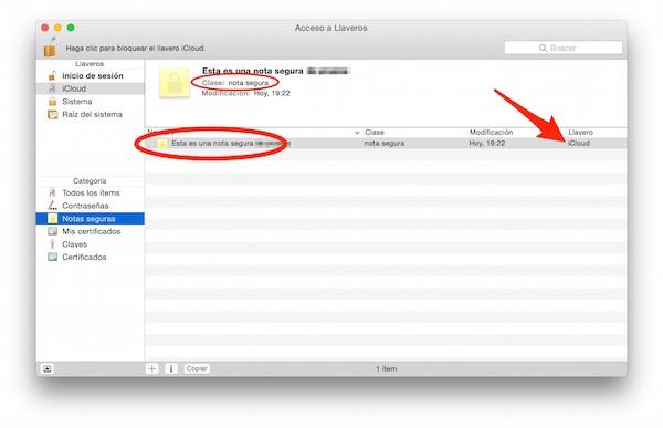¿Donde guardas tus notas secretas? en el llavero del Mac