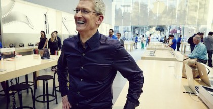 Tim Cook en Apple Store