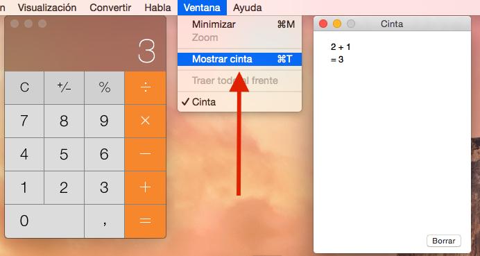 Cómo mostrar la cinta de la calculadora de nuestro Mac