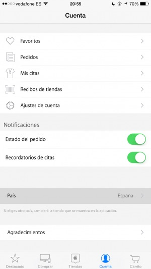 App Store Aplicación