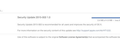 Nueva actualizacion de seguridad para Yosemite 10.10.2