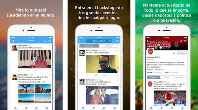 Twitter para iOS se actualiza