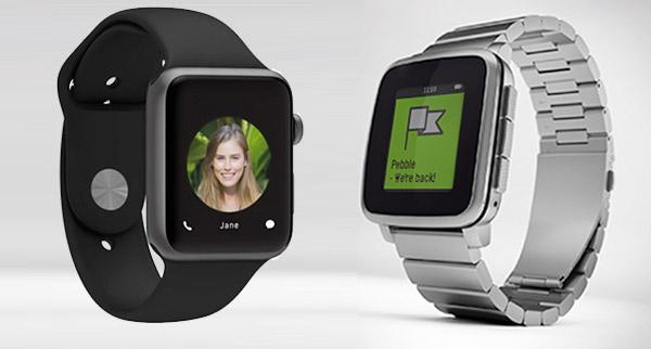 6 diferencias del Pebble Time Steel VS Apple Watch