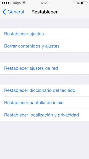 borrar datos de iPhone