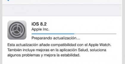 iOS 8.2 disponible desde hoy con soporte para el Apple Watch