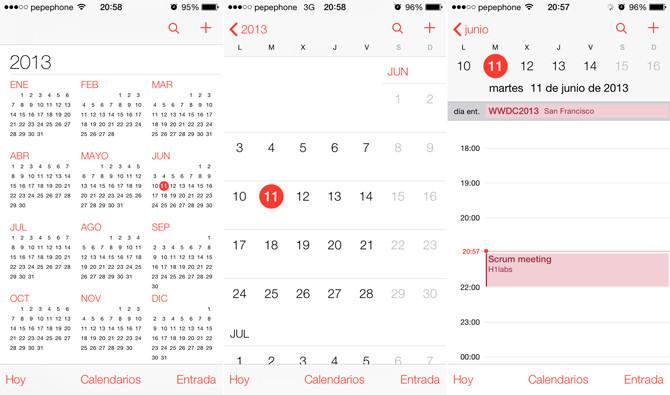 Como ver eventos rechazados en Calendario del iPhone