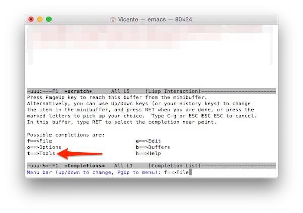 Herramientas Emacs