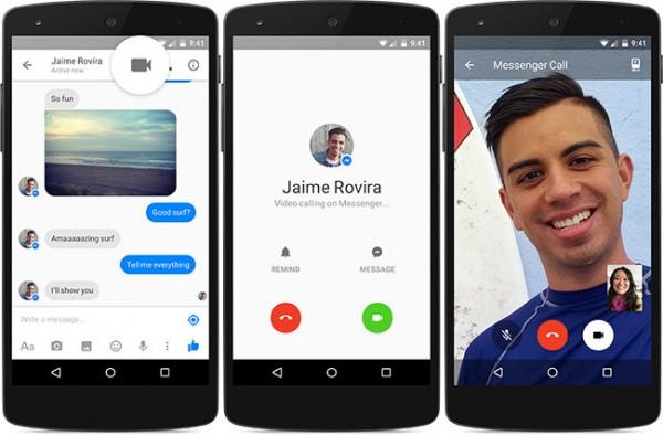 nueva opción de facebook messenger video llamadas