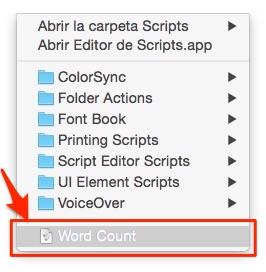 Listado de Scripts