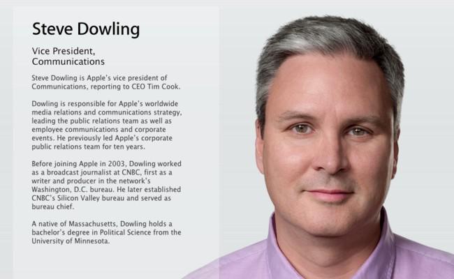 Steve Dowling es el nuevo vicepresidente de comunicaciones en Apple
