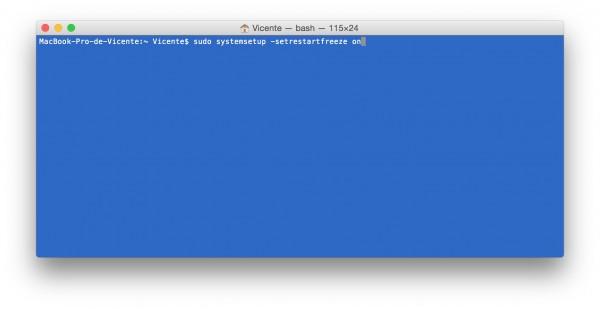 Reiniciar el Mac automaticamente y evitar el Sleep mode