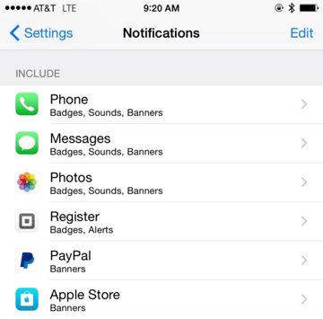 Notificaciones iPhone