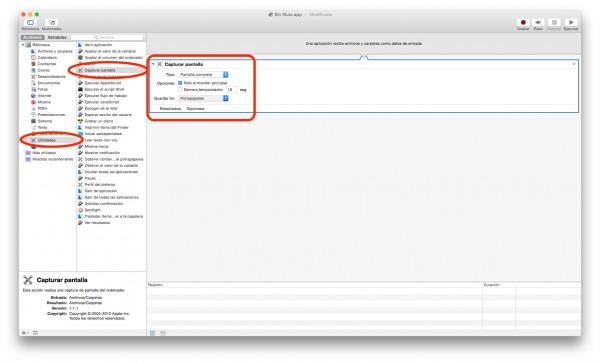 Añadir elemento de captura de pantalla