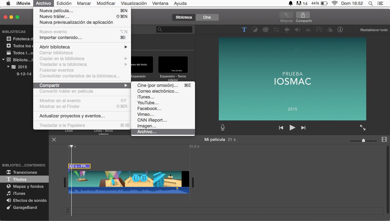 Cómo agregar texto a tus vídeos desde iMovie para Mac - iOSMac