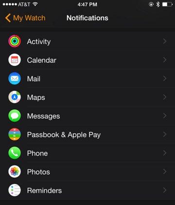 Notifications Apple Watch