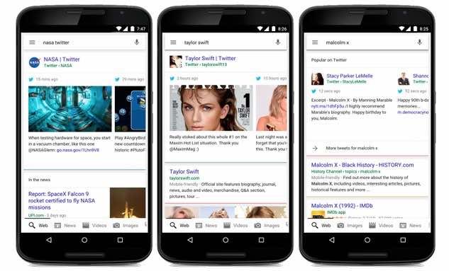 Google añade tuits en tiempo real en su buscador