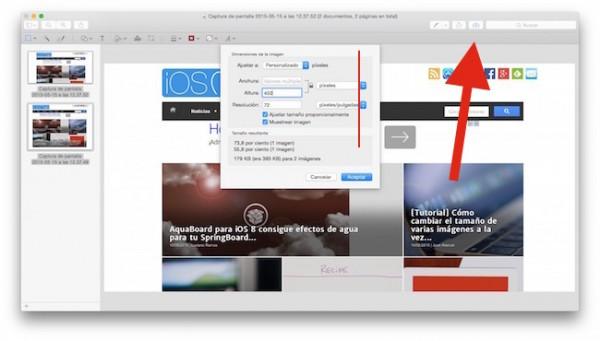 cambiar el tamaño de varias imágenes a la vez mac