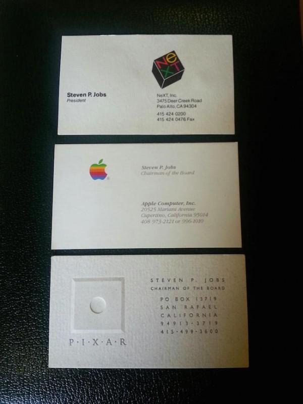 Steve Jobs tarjetas de presentación