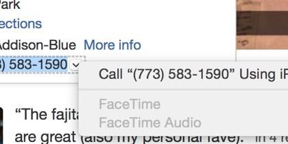 Llamar desde el iPhone a un numero de teléfono en el Mac