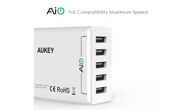 cargador de pared Aukey 4 puertos USB