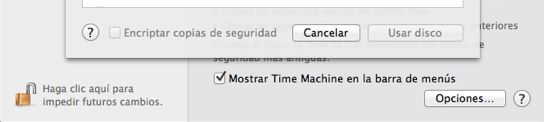 encriptar timemachine