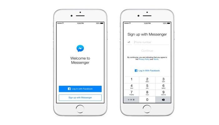Regístrate en Facebook Messenger sin tener cuenta en Facebook