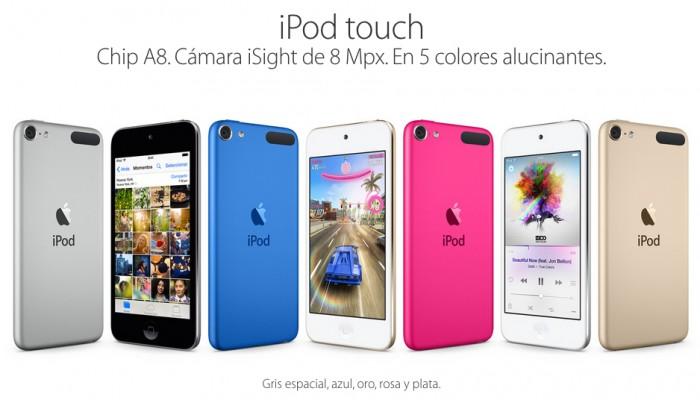 Apple presenta una mejorada gama de iPod Touch