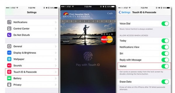 Apple Pay Wallet sin desbloquear iPhone