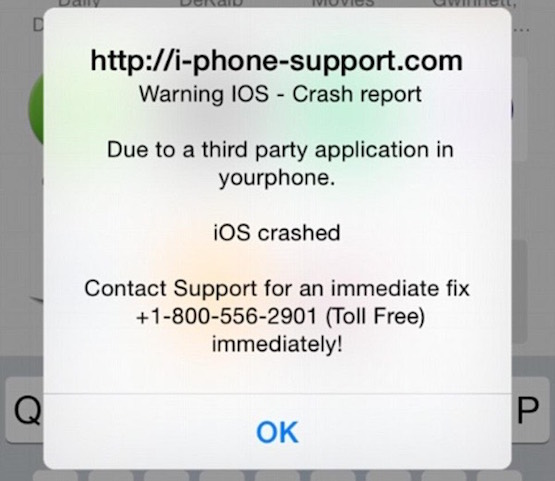 Nueva estafa en Safari iOS