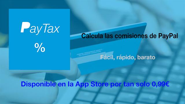 PayTax, calcula las comisiones de PayPal