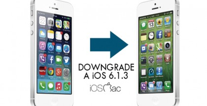 downgrade a iOS 6.1.3