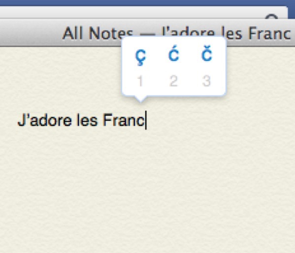 Teclado Mac OS X al estilo iOS