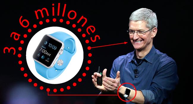 Apple Watch: según los analistas, vendidos de 3 a 6 millones