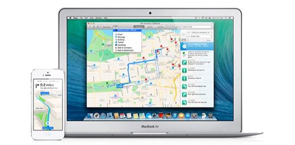 Envía Mapas del Mac a tu dispositivo iOS en un clic