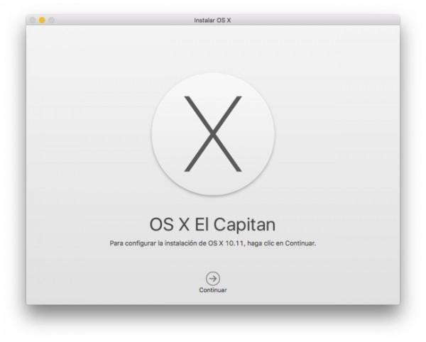 OS X Capitan inicio