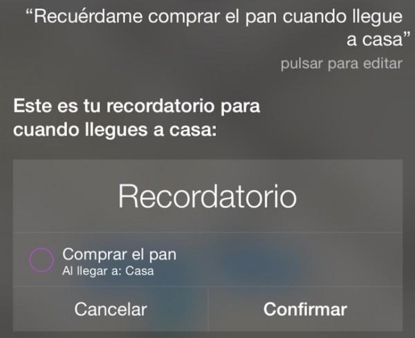 Recordatorio Siri
