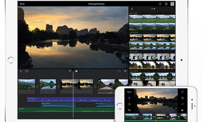 iMovie: Se actualiza para iOS con soporte para editar 4K en iPad Air 2