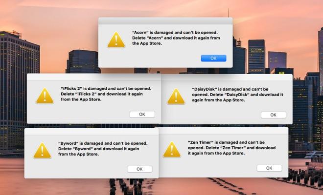 Errores con certificados de seguridad en la Mac App Store