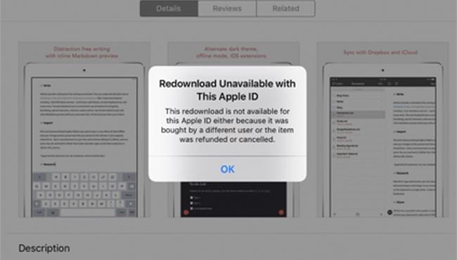 """Cómo solucionar el """"volver a descargar no disponible"""" de la App Store"""