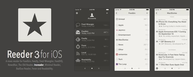Reeder 3.0 se actualiza con soporte para 3D Touch