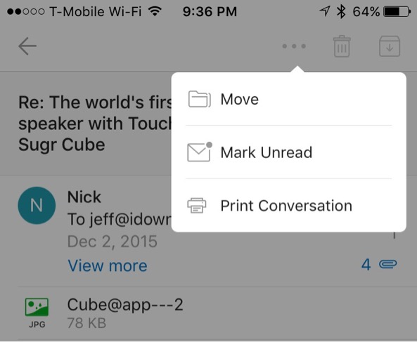 Outlook-iOS-3d-touch 2