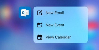 Outlook-iOS-3d-touch