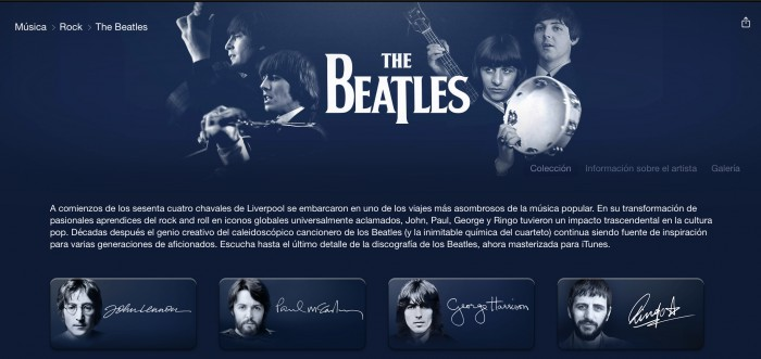 The Beatles disponible en Apple Music a partir de Nochebuena