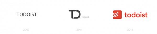 Evolución del logo de Todoist