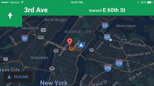 Apple Maps de día, de noche, de día, de noche...