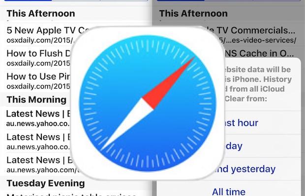 Tutorial: Cómo eliminar búsquedas recientes en Safari y el historial de navegación web en iOS